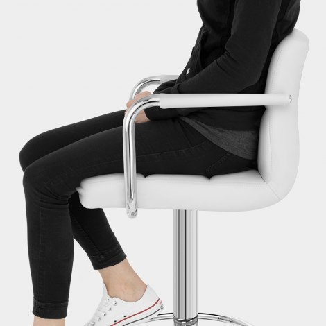 Maze Bar Stool White Seat Image