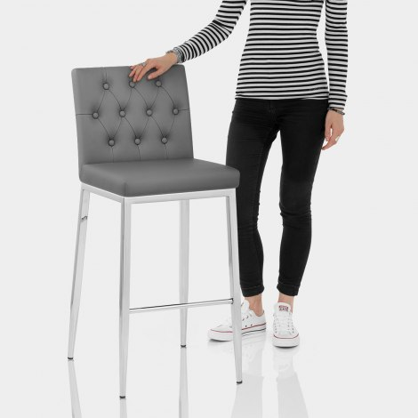 Mellow Bar Stool Dark Grey Features Image