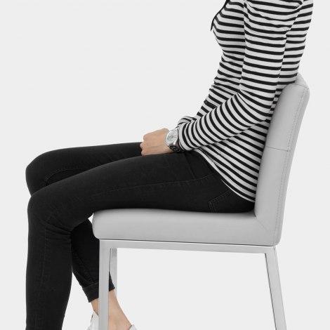 Mellow Bar Stool Light Grey Seat Image