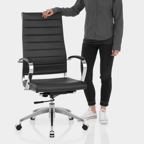 Metro Office Chair Black Features Image