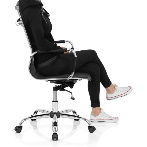 Metro Office Chair Black Seat Image