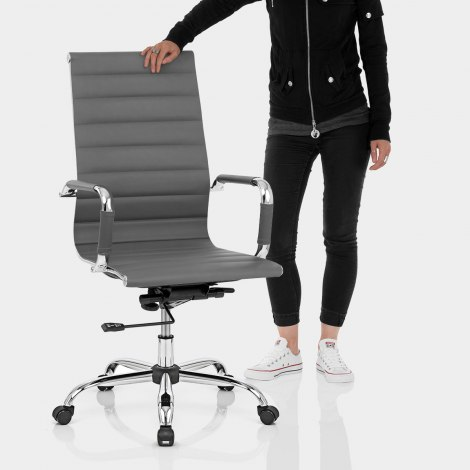 Metro Office Chair Grey Features Image