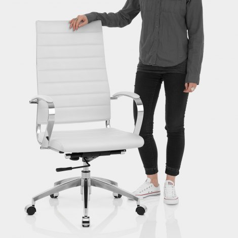 Metro Office Chair White Features Image