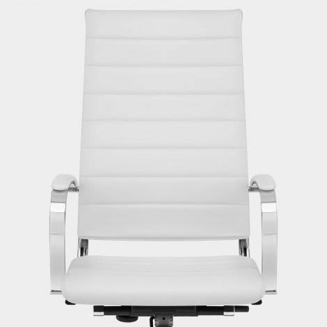 Metro Office Chair White Seat Image