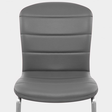 Mica Brushed Dining Chair Grey Seat Image