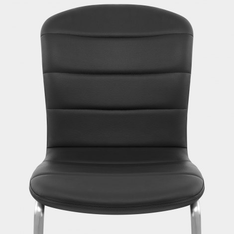Mica Brushed Dining Chair Black Seat Image
