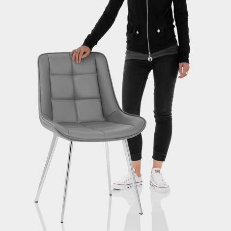 Milano Dining Chair Grey Features Image
