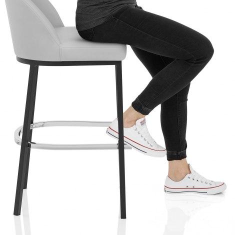 Milo Bar Stool Light Grey Seat Image