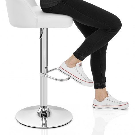 Mimi Chrome Stool White Seat Image