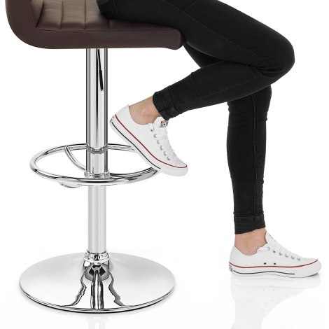 Mint Bar Stool Brown Seat Image