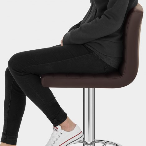 Mint Bar Stool Brown Seat Image