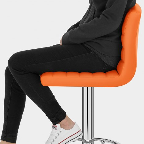Mint Bar Stool Orange Seat Image