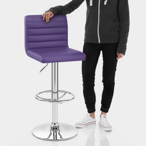 Mint Bar Stool Purple Features Image