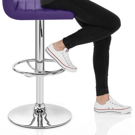Mint Bar Stool Purple Seat Image