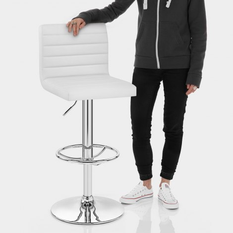 Mint Bar Stool White Features Image