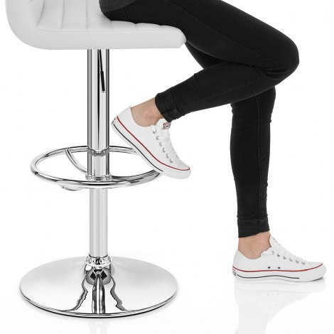 Mint Bar Stool White Seat Image