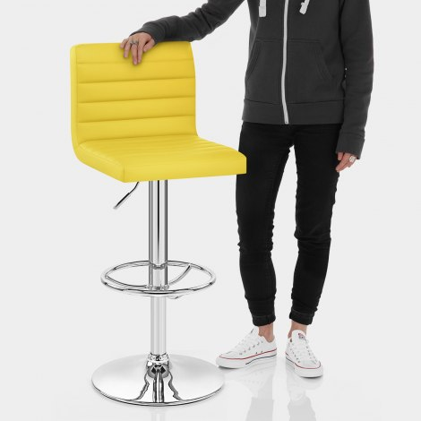 Mint Bar Stool Yellow Features Image