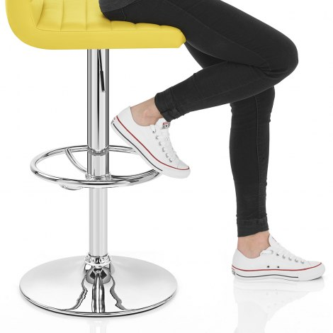 Mint Bar Stool Yellow Seat Image