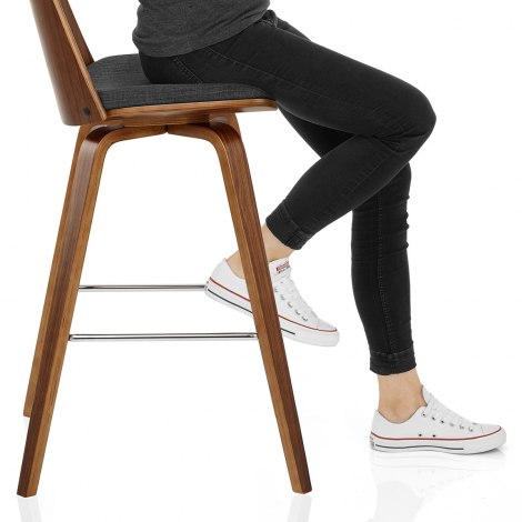 Mirage Wooden Stool Charcoal Fabric Frame Image