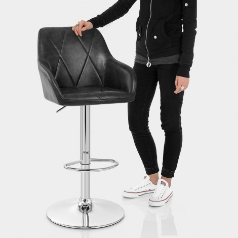 Modena Bar Stool Black Features Image