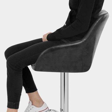 Modena Bar Stool Black Seat Image