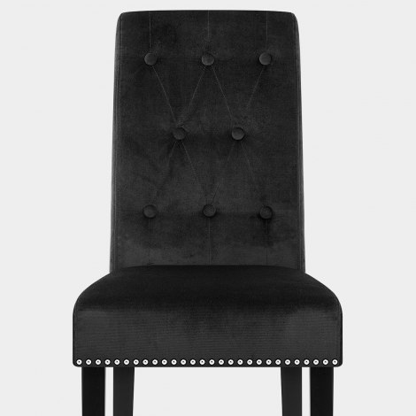 Moreton Dining Chair Black Velvet Seat Image