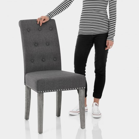 Moreton Dining Chair Charcoal Fabric Features Image
