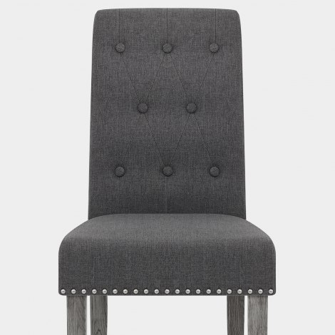 Moreton Dining Chair Charcoal Fabric Seat Image