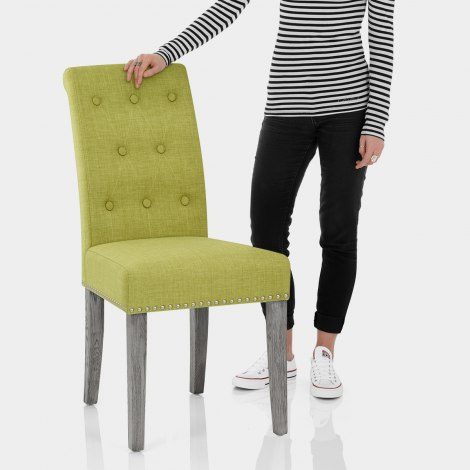 Moreton Dining Chair Green Fabric Features Image