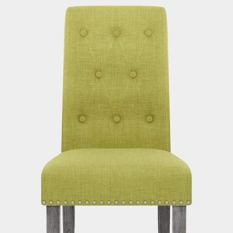 Moreton Dining Chair Green Fabric Seat Image