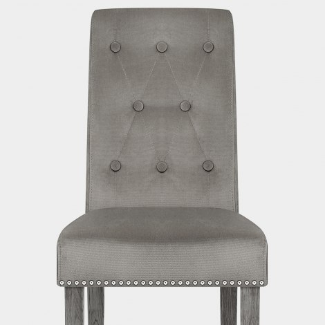 Moreton Dining Chair Grey Velvet Seat Image