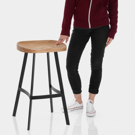 Mulberry Industrial Stool Features Image