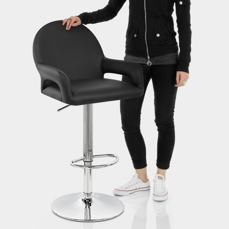 Munich Bar Stool Black Features Image