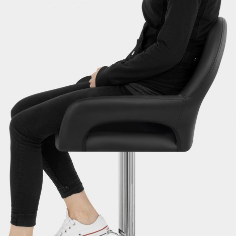Munich Bar Stool Black Seat Image