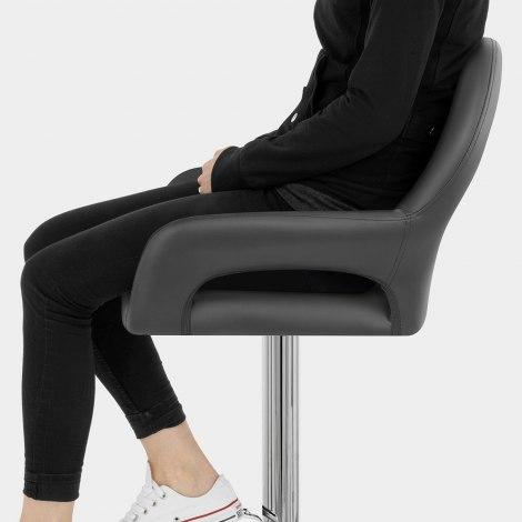 Munich Bar Stool Grey Seat Image
