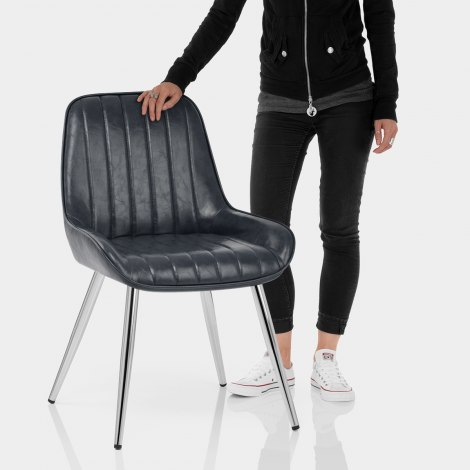 Mustang Chrome Chair Antique Slate Features Image