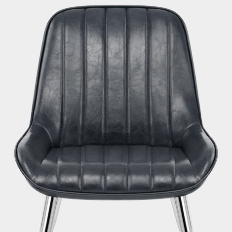 Mustang Chrome Chair Antique Slate Seat Image