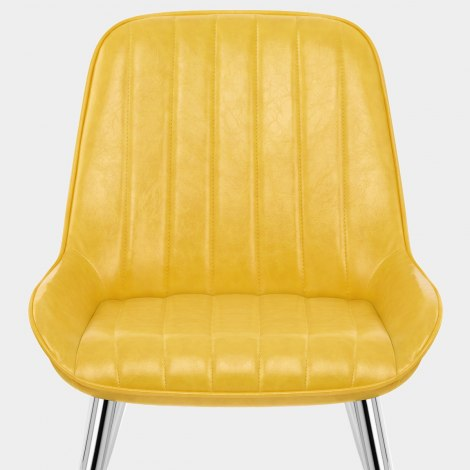 Mustang Chrome Chair Antique Yellow Seat Image