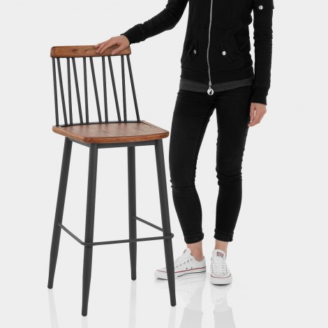 Nash Industrial Bar Stool Features Image