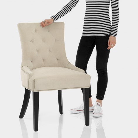 Newbury Dining Chair Cream Velvet Features Image