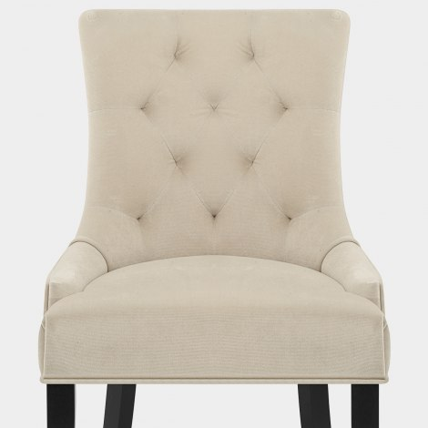 Newbury Dining Chair Cream Velvet Seat Image