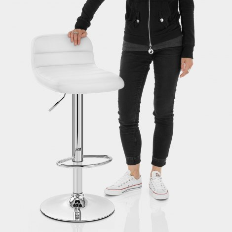 Nexus Bar Stool White Features Image
