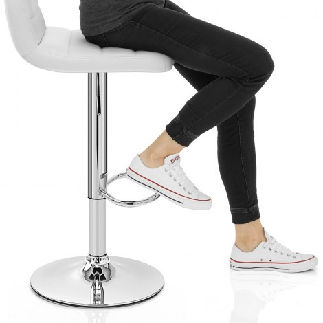 Nexus Bar Stool White Seat Image