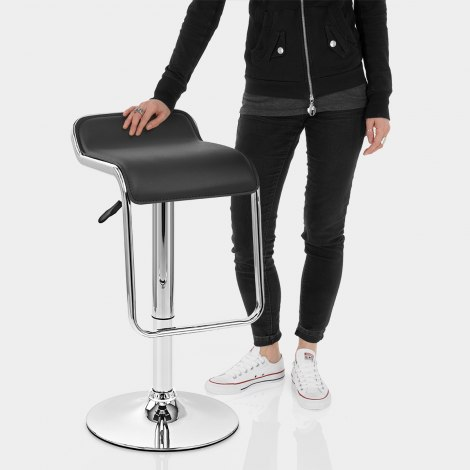 Niagara Bar Stool Black Features Image