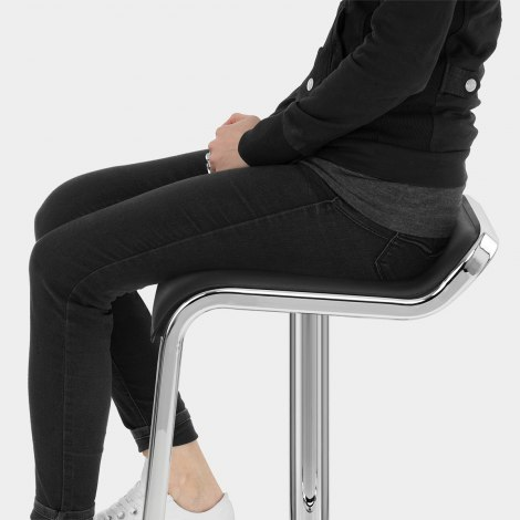 Niagara Bar Stool Black Seat Image