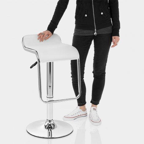 Niagara Bar Stool White Features Image