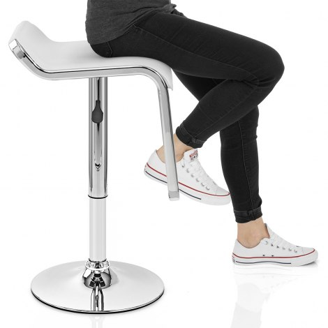 Niagara Bar Stool White Seat Image