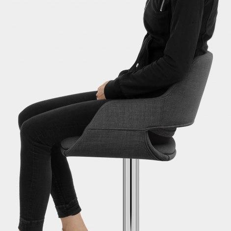 Nuevo Bar Stool Charcoal Fabric Seat Image