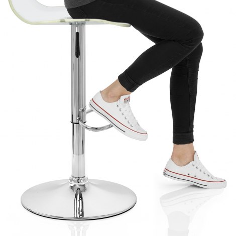 Odyssey Acrylic Stool Clear Seat Image