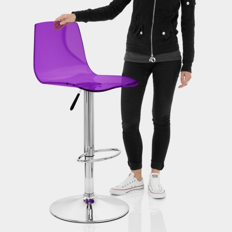 Odyssey Acrylic Stool Purple Features Image